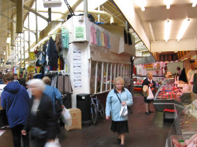 Inside Ashton Market Hall, 2003 - photo: Colin Hyatt