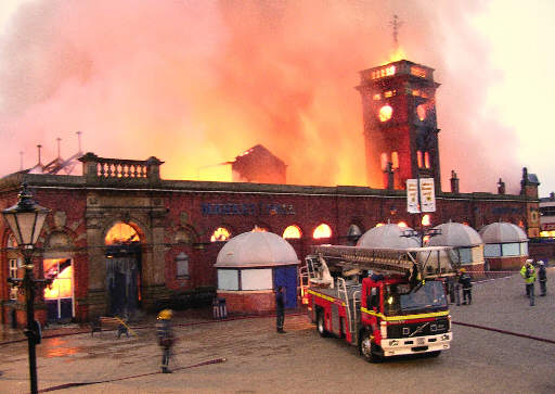Ashton under Lyne Market Hall Fire